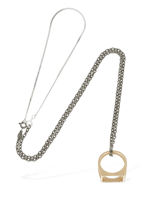 Long Chain W/ Ring Pendant Necklace
