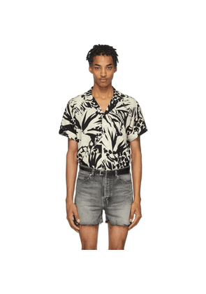 Saint Laurent Black and Off-White Jungle Shirt