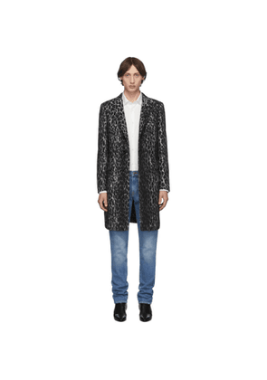 Eidos White Wool Spotted Over Coat