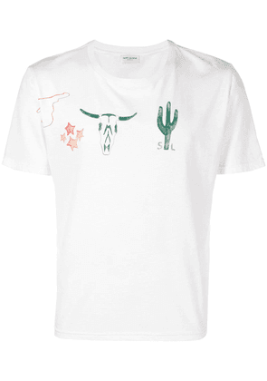 Saint Laurent Arizona T-shirt - White