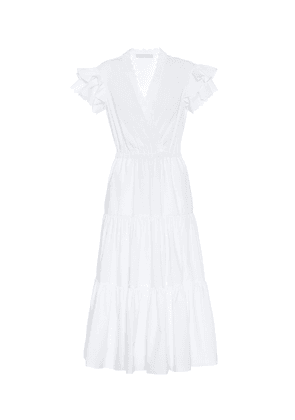 Cotton poplin midi dress