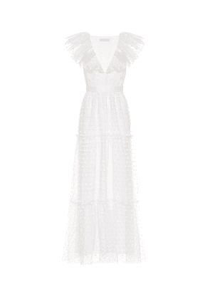Daisy tulle maxi dress