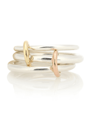 Daphne 18kt gold and sterling silver linked rings