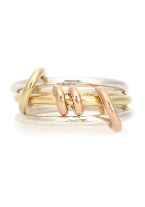 Acacia 18kt gold and sterling silver linked rings