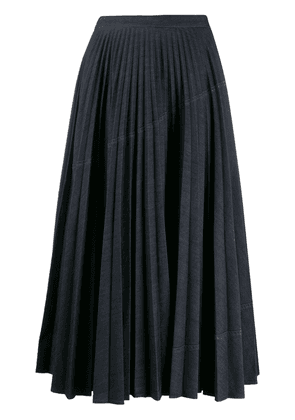 Valentino A-line pleated skirt - Blue