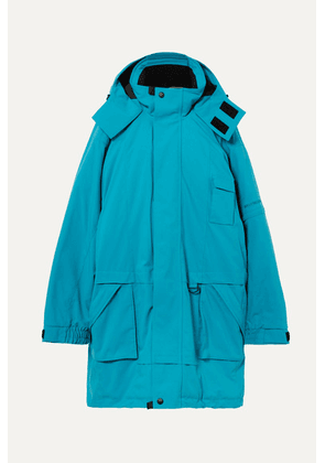 Balenciaga - Embroidered Oversized Canvas Parka - Blue
