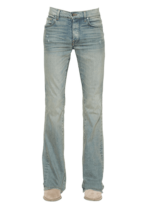 27cm Flared Stack Cotton Denim Jeans