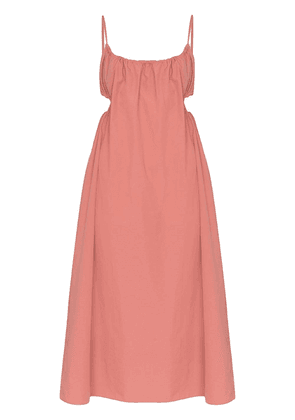 Araks Yeraz tie back midi dress - PINK