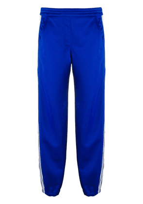 Neil Barrett stripe detail cropped track pants - Blue