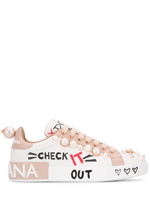 Dolce & Gabbana graphic print sneakers - White