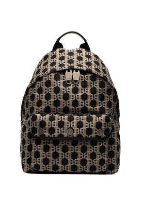 Balmain jacquard monogram backpack - Black