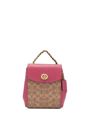 Coach Parker 16 convertible backpack - PINK