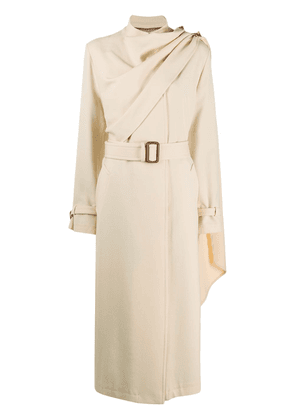 Gucci scarf detail trench coat - NEUTRALS