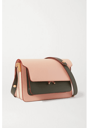 Marni - Trunk Small Color-block Leather Shoulder Bag - Pink