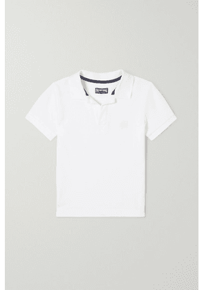 Vilebrequin Kids - Embroidered Cotton-piqué Polo Shirt - White