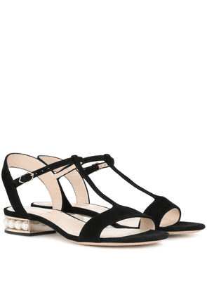 Casati Pearl T-bar suede sandals