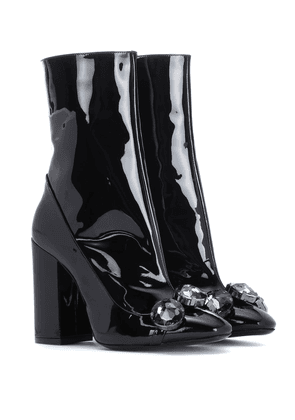 Tino 100 patent leather ankle boots