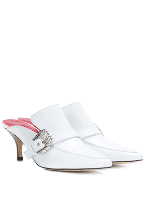 Cabriolet leather mules