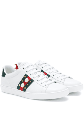 Ace embellished leather sneakers