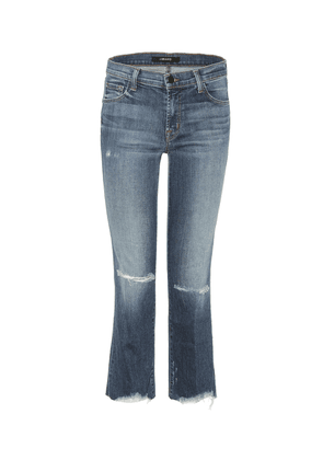 Selena mid-rise cropped jeans