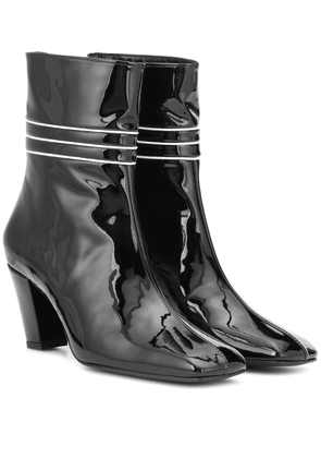 Lagonda patent leather ankle boots