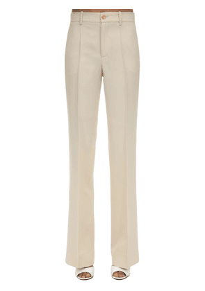 70 Flared Silk Blend Crepe Cady Pants