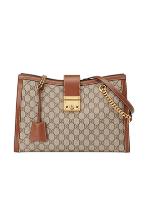 Gucci Padlock GG Tote Bag in Beige Ebony & Tuscany - Brown,Neutral. Size all.