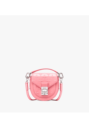 Patricia Shoulder Bag In Diamond Patent Leather