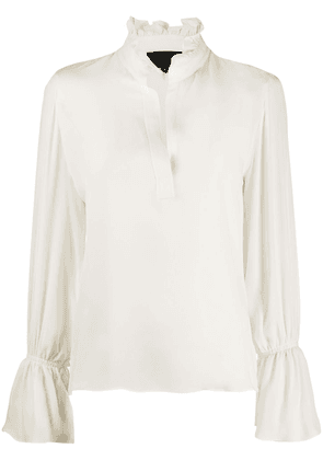 Nili Lotan ruffled neck blouse - NEUTRALS