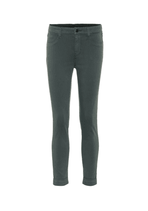 Anja cropped mid-rise skinny jeans