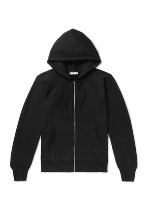 The Row - Loopback Cotton-jersey Zip-up Hoodie - Black