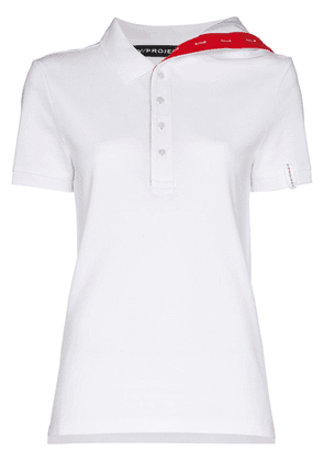 Y/Project asymmetric collar fitted shirt - White