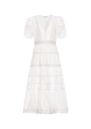 Odile cotton and silk dress