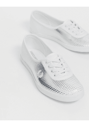 Fred Perry Aubery printed leather trainer-White