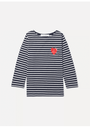 Chinti and Parker Kids - Striped Cotton-jersey Top - Navy