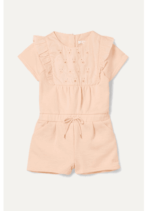 Chloé Kids - Months 6 - 18 Embroidered Cotton-terry Onesie