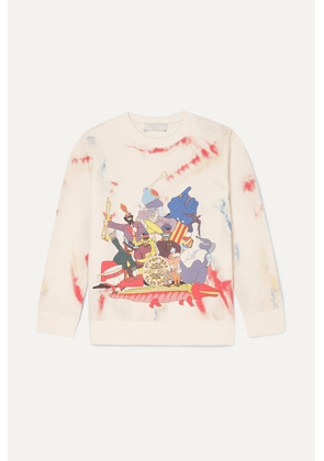 Stella McCartney Kids - Printed Tie-dyed Organic Cotton-fleece Sweatshirt - Blue