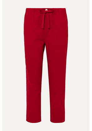 Sleepy Jones - Marina Cotton-corduroy Pajama Pants - Red