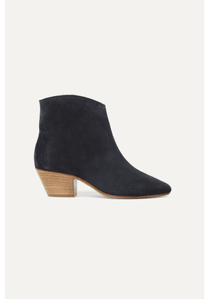 Isabel Marant - Dacken Suede Ankle Boots - Black