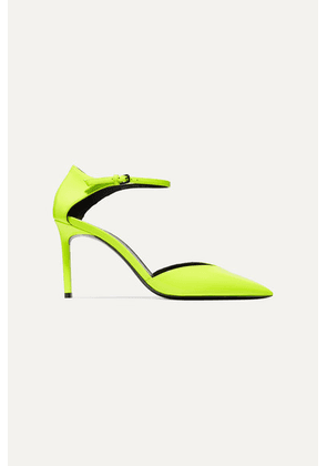 SAINT LAURENT - Anja Neon Patent-leather Pumps - Yellow