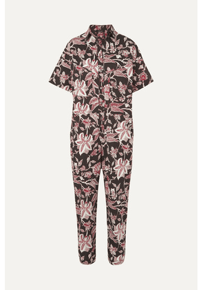 Isabel Marant - Lindsie Floral-print Cotton Jumpsuit - Black