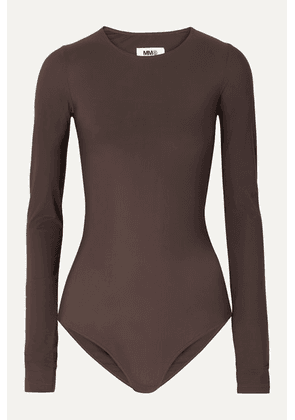 MM6 Maison Margiela - Stretch-jersey Bodysuit - Dark brown