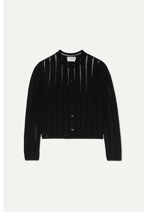 Alexander McQueen - Cropped Knitted Cardigan - Black