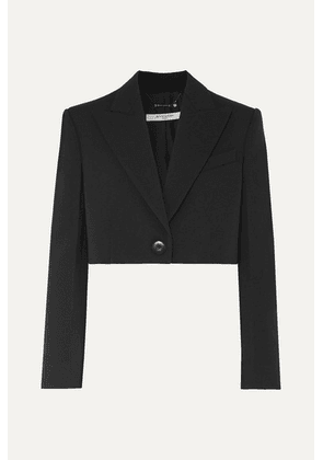 Givenchy - Cropped Wool And Silk-blend Twill Blazer - Black