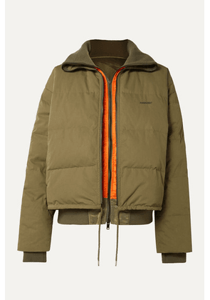 AMBUSH® - Reversible Padded Shell Down Jacket - Army green