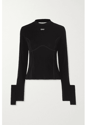 Off-White - Printed Stretch-jersey Top - Black