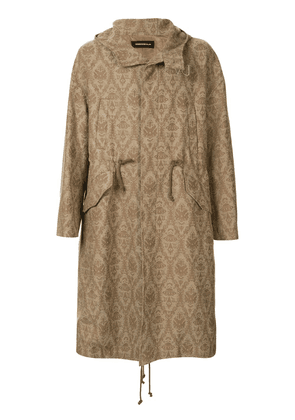 Undercover embroidered parka coat - Brown
