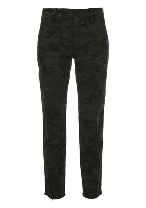 Nili Lotan high-rise camouflage tapered trousers - Black