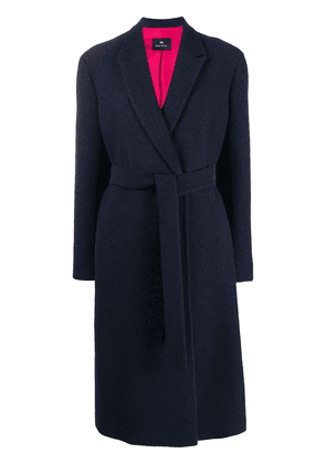PS Paul Smith oversized belted coat - Blue