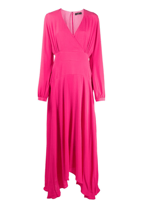 PS Paul Smith wrap front maxi dress - PINK
